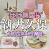 日本で韓国が味わえる!?新大久保にある韓国っぽおすすめカフェ紹介!